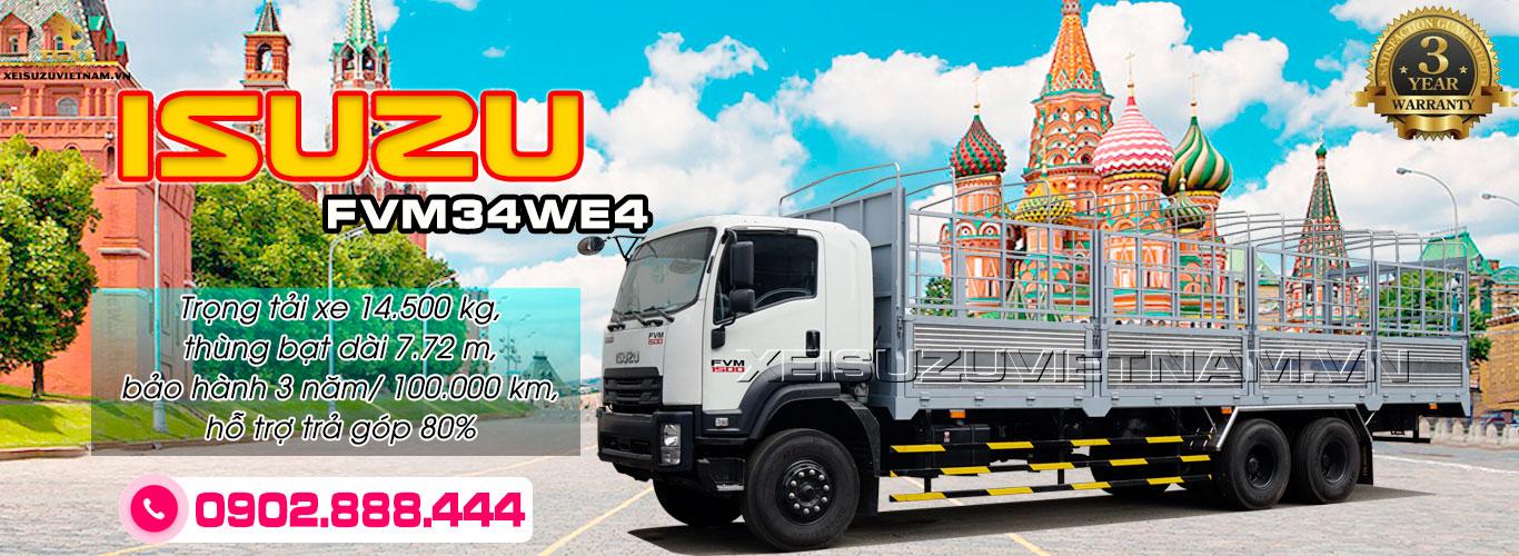 Xe tải Isuzu 14T5 thùng mui bạt - FVM34WE4