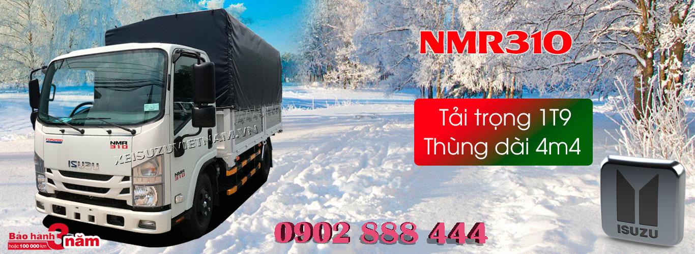 Xe tải Isuzu 1T9 thùng mui bạt - NMR85HE4