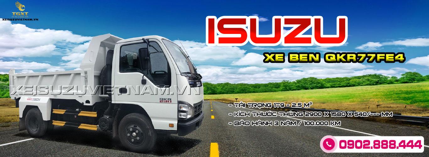 Xe ben Isuzu 1T9 2.5 khối QKR77FE4