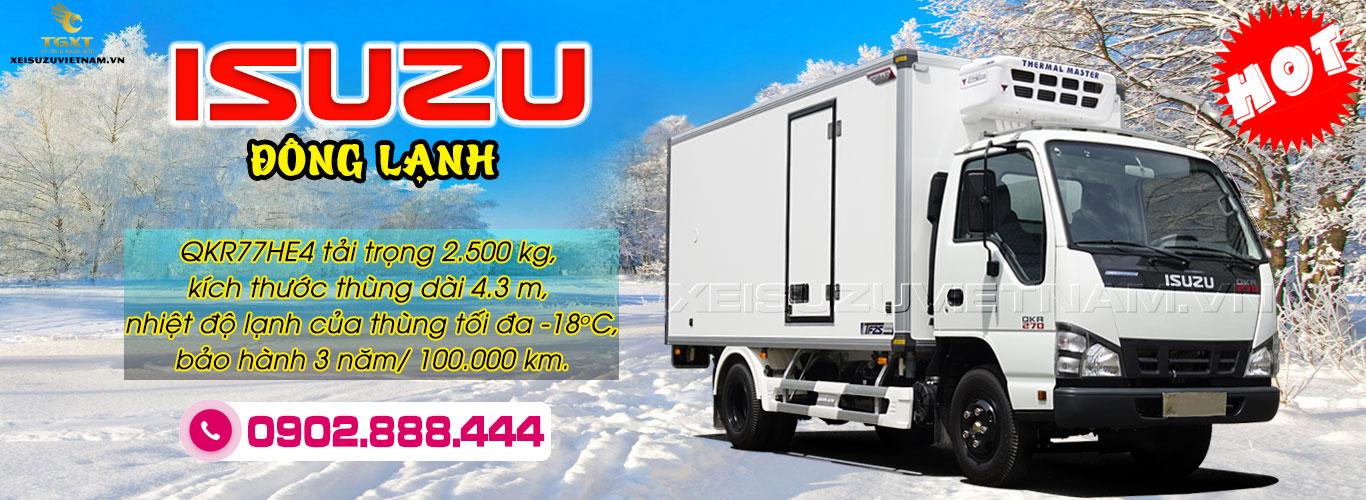 Xe đông lạnh Isuzu 2T5 - QKR77HE4