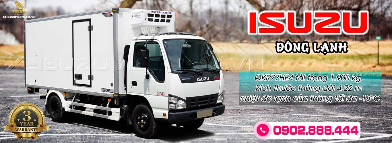 Xe đông lạnh Isuzu 1T9 - QKR77HE4