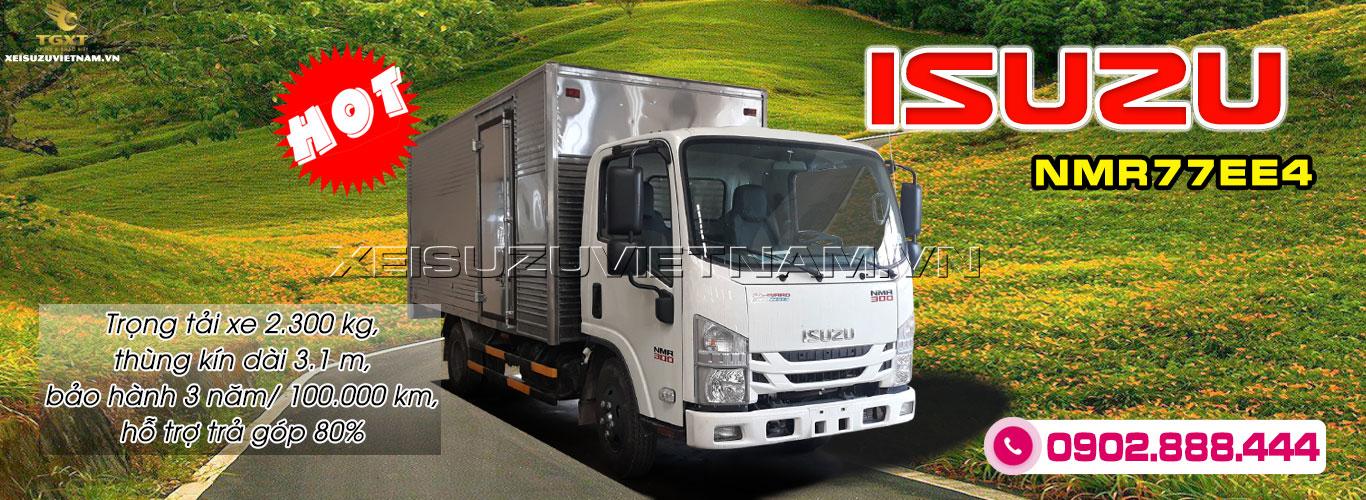 Xe tải Isuzu 2T3 thùng kín - NMR77EE4