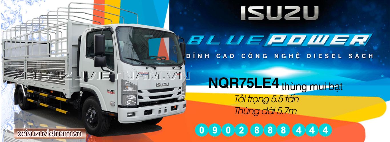 Xe tải Isuzu 5T5 thùng mui bạt - NQR75LE4