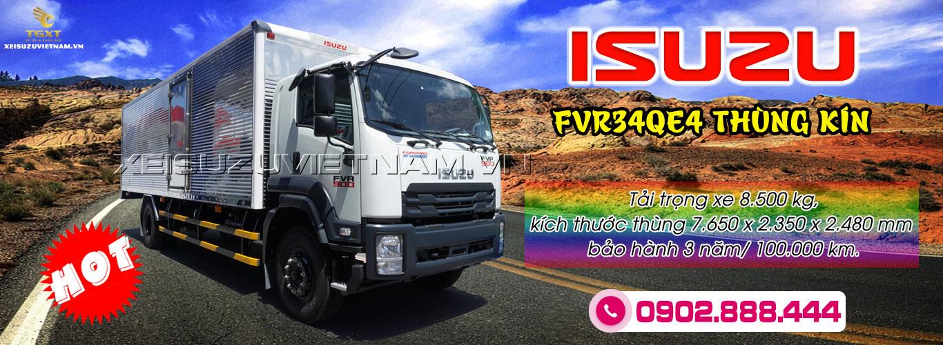 Xe tải Isuzu 8T5 thùng kín - FVR34QE4