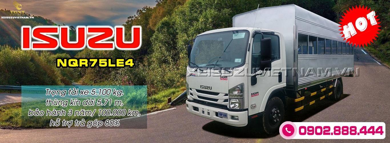 Xe tải Isuzu NQR75LE4 thùng tập lái
