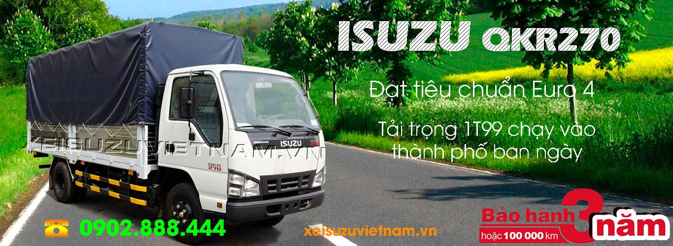 Xe tải Isuzu 1T9 thùng bạt - QKR77HE4