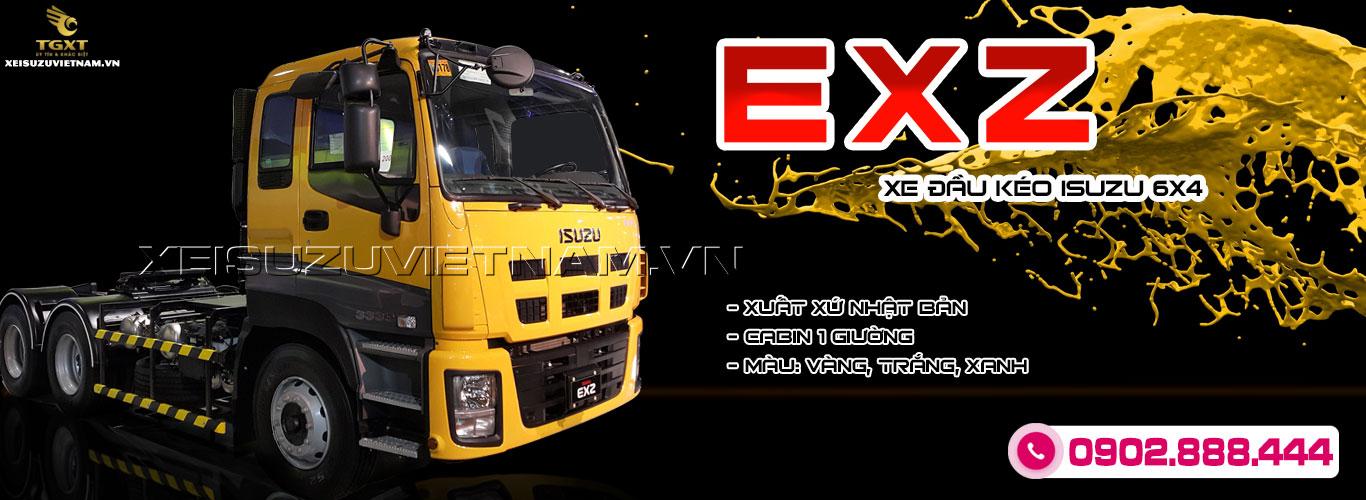 Xe đầu kéo Isuzu EXZ 2 cầu 390Ps sức kéo 60 tấn