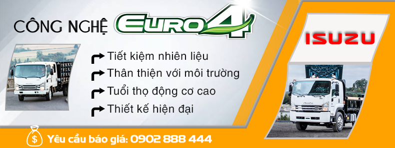 Xe tải Isuzu công nghệ Euro4