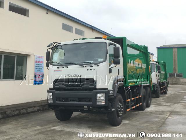 Xe ép rác Isuzu FVZ34QE4 20 khối có sẵn - Xeisuzuvietnam.vn