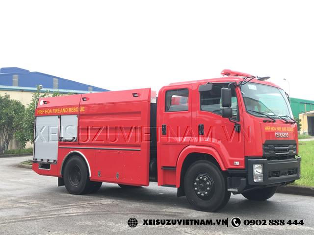 Xe chữa cháy Isuzu FVR34LE4 6.5 khối giao ngay - Xeisuzuvietnam.vn