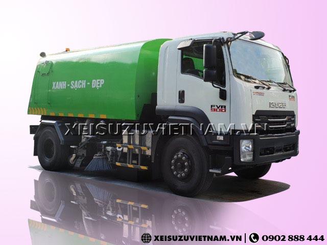 Bán xe quét đường hút bụi Isuzu FVR34LE4 6 khối - Xeisuzuvietnam.vn