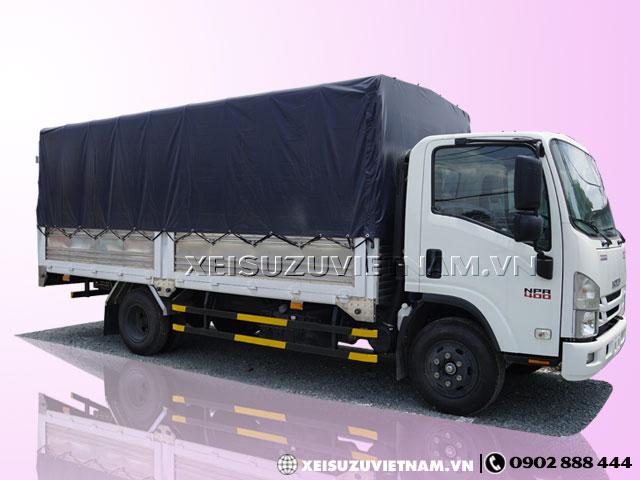 Xe tải Isuzu NPR85KE4 3T49 thùng bạt bửng nâng - Xeisuzuvietnam.vn